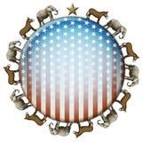 Botão da eleição Imagem de Stock