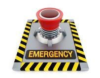 Botão da emergência Imagem de Stock Royalty Free