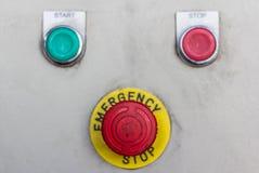 Botão da emergência Foto de Stock