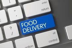 Botão da entrega do alimento 3d Foto de Stock