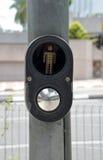 Botão da faixa de travessia Imagem de Stock Royalty Free