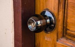Botão da fechadura da porta e de porta Imagens de Stock