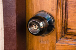 Botão da fechadura da porta e de porta Fotos de Stock