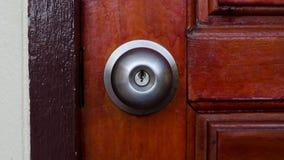 Botão da fechadura da porta e de porta imagens de stock royalty free