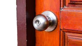 Botão da fechadura da porta e de porta fotografia de stock