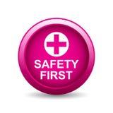 botão da segurança em primeiro lugar ilustração royalty free