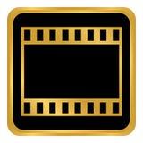 Botão da tira do filme Imagem de Stock