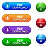 Botão da transferência do pdf Fotografia de Stock Royalty Free