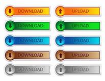 Botão da transferência e da transferência de arquivo pela rede Fotos de Stock Royalty Free