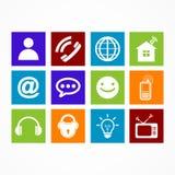 Botão da Web do ícone da coleção do negócio Imagens de Stock Royalty Free