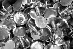 Botão de aço inoxidável fotos de stock royalty free