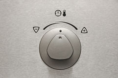 Botão de alumínio escovado do forno fotos de stock royalty free
