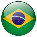 Botão de Brasil Fotos de Stock