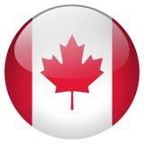 Botão de Canadá ilustração do vetor