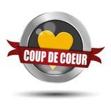 Botão de coeur do golpe ilustração stock