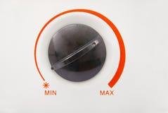 Botão de controle do calefator imagem de stock royalty free