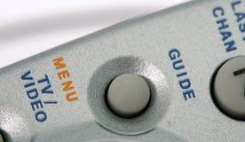 Botão de controle remoto do menu, detalhes Imagem de Stock Royalty Free