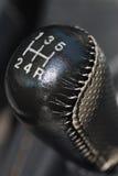 Botão de couro da SHIFT de engrenagem Imagens de Stock Royalty Free