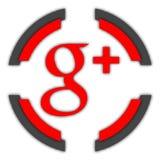 Botão de G+ ilustração royalty free