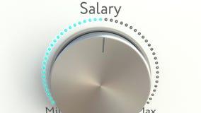 Botão de giro com inscrição do salário vídeos de arquivo