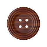 Botão de madeira da roupa da costura Imagem de Stock