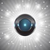 botão de néon Fotos de Stock