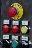 Botão de parada da emergência Fotos de Stock Royalty Free