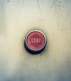 Botão de parada da emergência Fotos de Stock