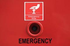Botão de parada da emergência Fotografia de Stock