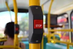 Botão de parada do ônibus para cortinas e profetas Fotos de Stock Royalty Free