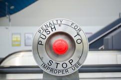 Botão de parada vermelho Foto de Stock Royalty Free