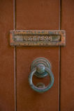 Botão de porta fotografia de stock