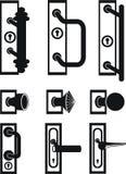 Botão de porta, buraco da fechadura Fotos de Stock