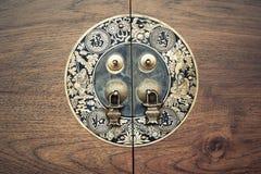 Botão de porta chinês imagem de stock