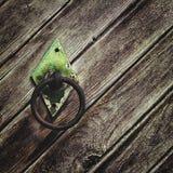 Botão de porta circular velho do ferro Foto de Stock