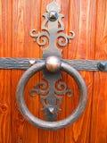 Botão de porta do ferro imagens de stock royalty free