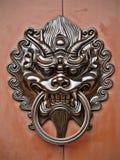 Botão de porta do leão Imagens de Stock