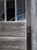Botão de porta oxidado imagem de stock