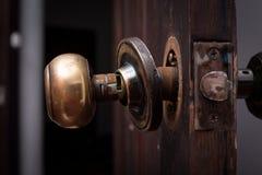 Botão de porta quebrado imagens de stock