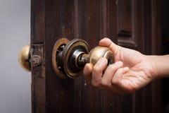 Botão de porta quebrado fotos de stock