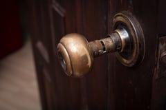 Botão de porta quebrado fotografia de stock