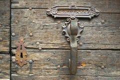 Botão de porta velho imagem de stock royalty free