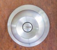 Botão de prata imagem de stock