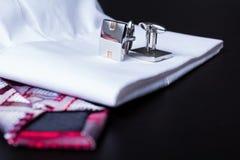 Botão de punho, estilo, acessório do moda Fotografia de Stock