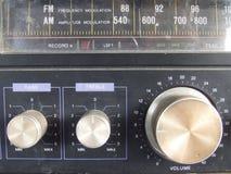 Botão de rádio velho de transistor foto de stock royalty free