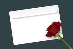 Botão de Rosa em uma letra imagens de stock