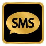 Botão de Sms no branco Fotos de Stock Royalty Free