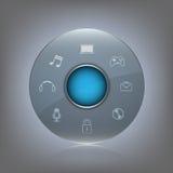 Botão de vidro Imagens de Stock Royalty Free