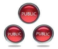 Botão de vidro público ilustração royalty free