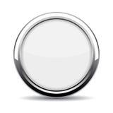 Botão de vidro redondo da Web Fotografia de Stock Royalty Free